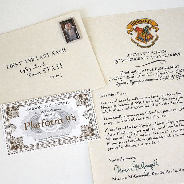 117 best Youu0027re a Wizard, Harry! images on Pinterest Harry - hogwarts acceptance letter