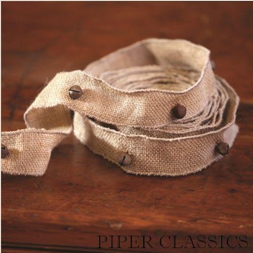 Jingle Bell Burlap Ribbon: Piper Classics