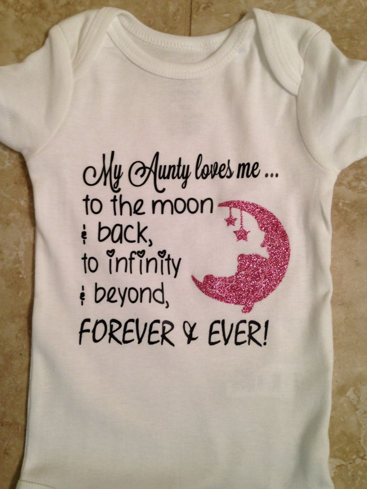 My Aunty loves me to the moon and back. Fun cool shirt for your little one! by MoreThanGlitz on Etsy