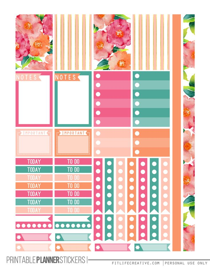25 Best Ideas About Free Printable Planner On Pinterest