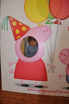 Peppa Pig cut out for pictures.  Link doesn't work, but I could DIY.