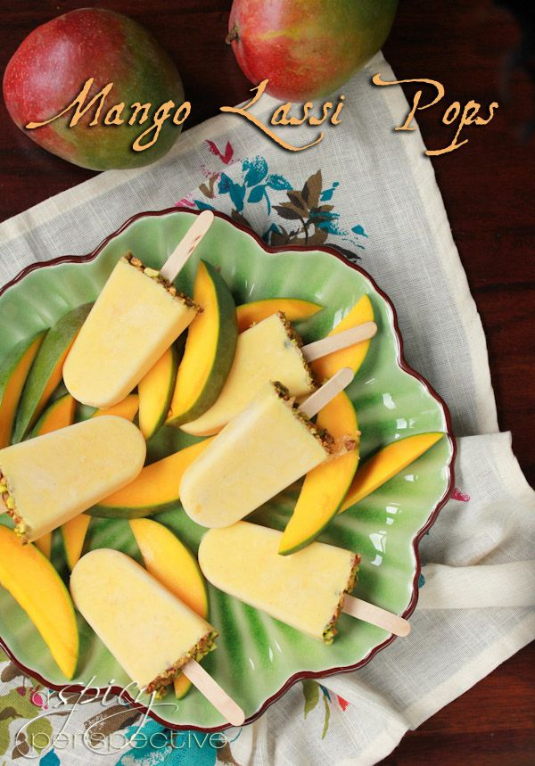 Mango Lassi Popsicles ~ ASpiyPerspective.comMango Lassi, Frozen Popsicles, Frozen Treats, Mango Popsicles, Homemade Popsicles, Lassi Popsicles, Ice Cream, Frozen Yummy, Icecream
