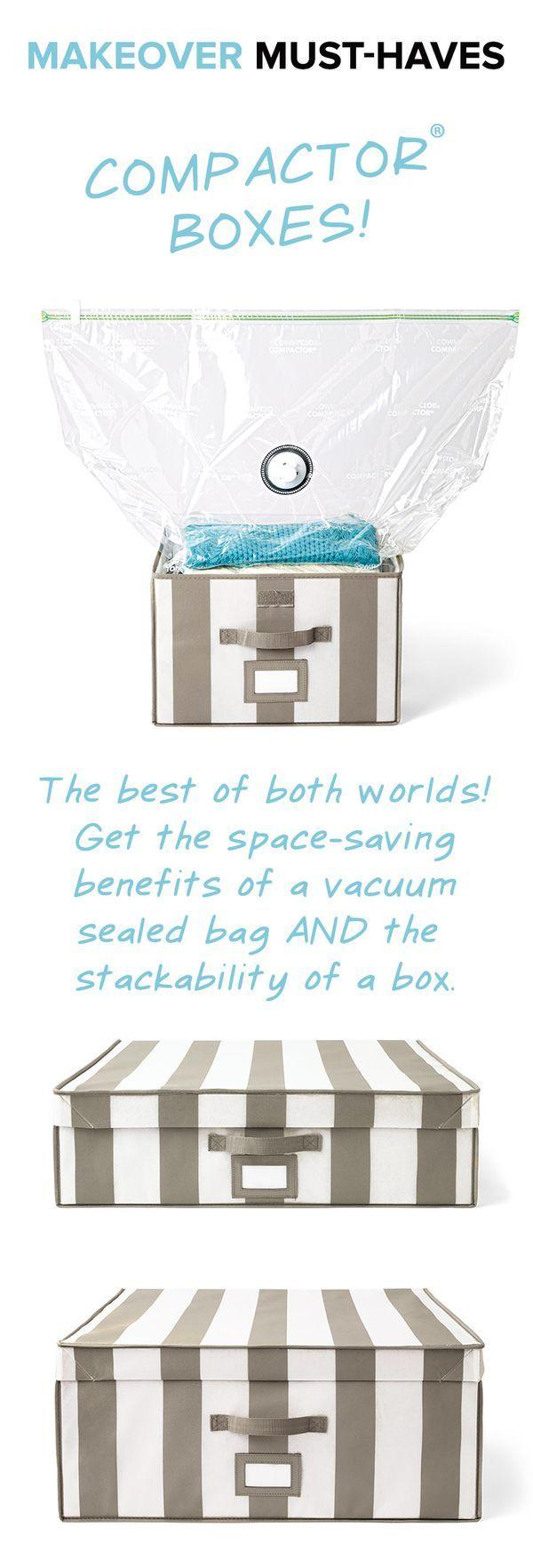 Compactor Storage Boxes. Closet StorageStorage BoxesBeautiful ClosetsContainer  StoreOrganizing IdeasOrganizeMake YourHacks Part 73