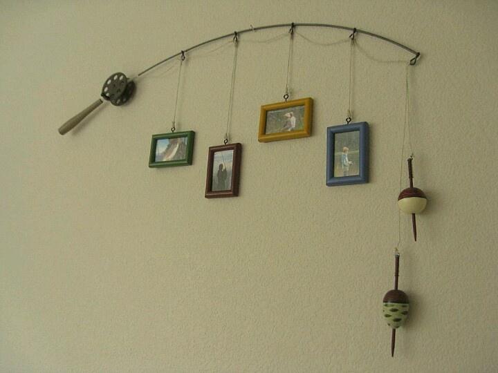 25 unique fishing pole frame ideas on pinterest fishing for Fishing pole decor