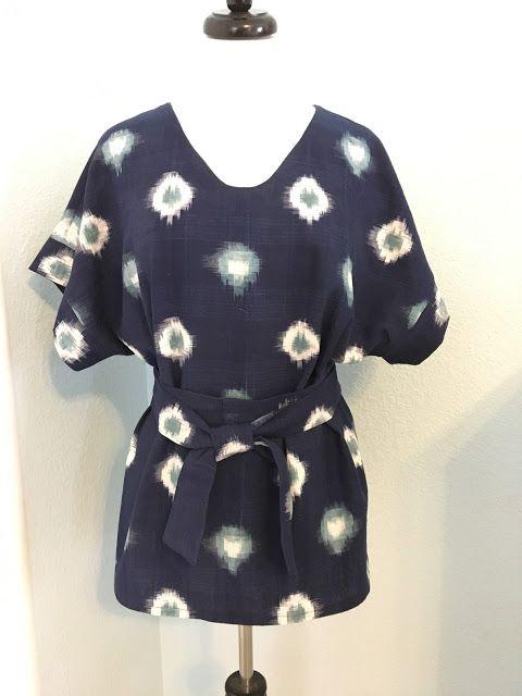 Sointu Kimono Tee in woven // Fabric Lady