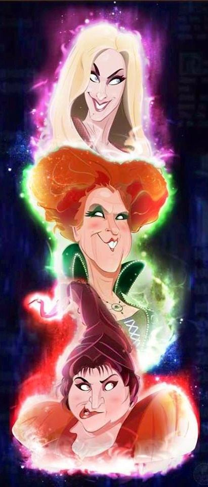 a cartoon version of one of my all time favorite halloween movies hocus pocus - Halloween Movies About Witches