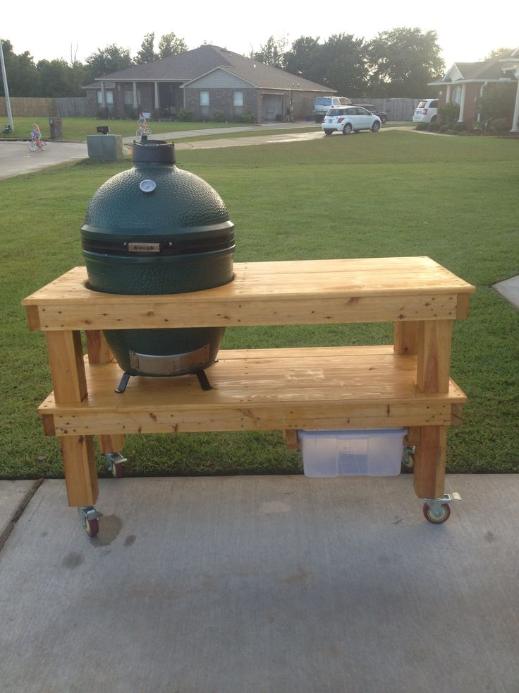 Big Green Egg table built by Mikey