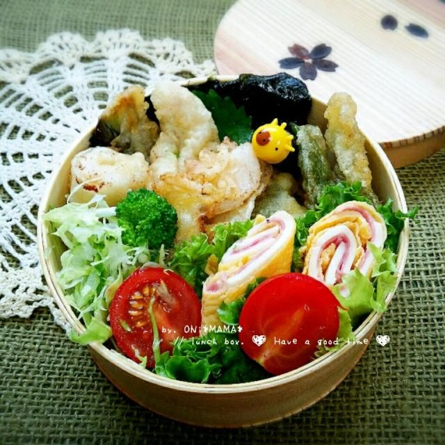 イカ天丼 - 170件のもぐもぐ - 娘のお弁当 by ONI*MAMA*
