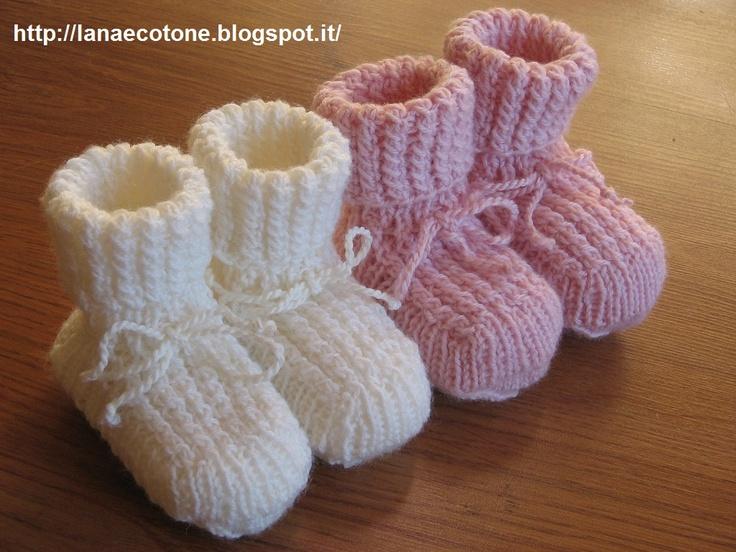 Lana e Cotone (maglia e uncinetto): Scarponcini a ferri