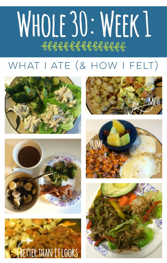 Whole 30 Week 1 Recap: What I Ate and How I Felt- Plus tips for getting started
