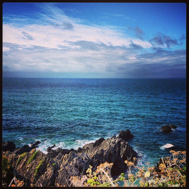 Coastal walk from Mortehoe to Bullpoint Lighthouse