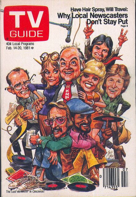 WKRP in Cincinnati on the cover of TV Guide