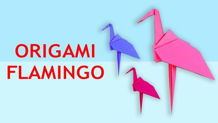 How to make Origami Flamingo | Origami Flamingo Instructions | Origami F...