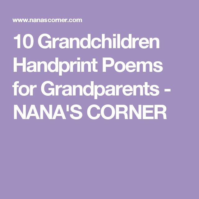 10 Grandchildren Handprint Poems for Grandparents - NANA'S CORNER