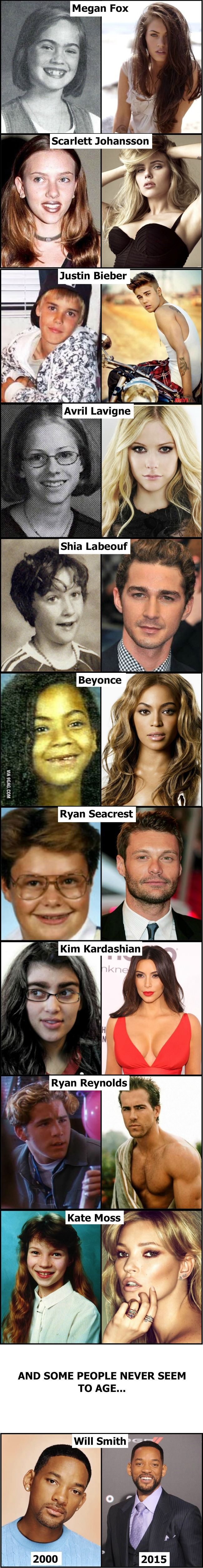 Celebrities then and now... (part 3) <<< See ? Who you are now, doesn't define your future at all !! Especially what you look like.