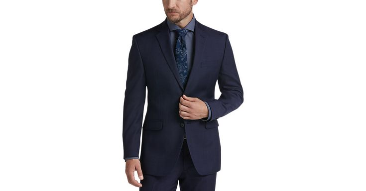 Check this out! Perry Ellis Portfolio Blue Slim Fit Suit - Men's Slim Fit from MensWearhouse. #MensWearhouse