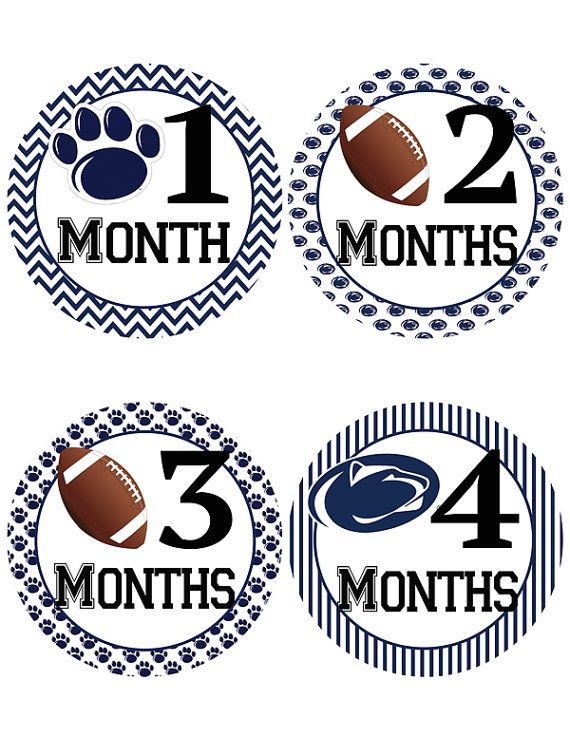 Penn State Baby Belly Stickers   Football Baby by iDesignsbyKathy
