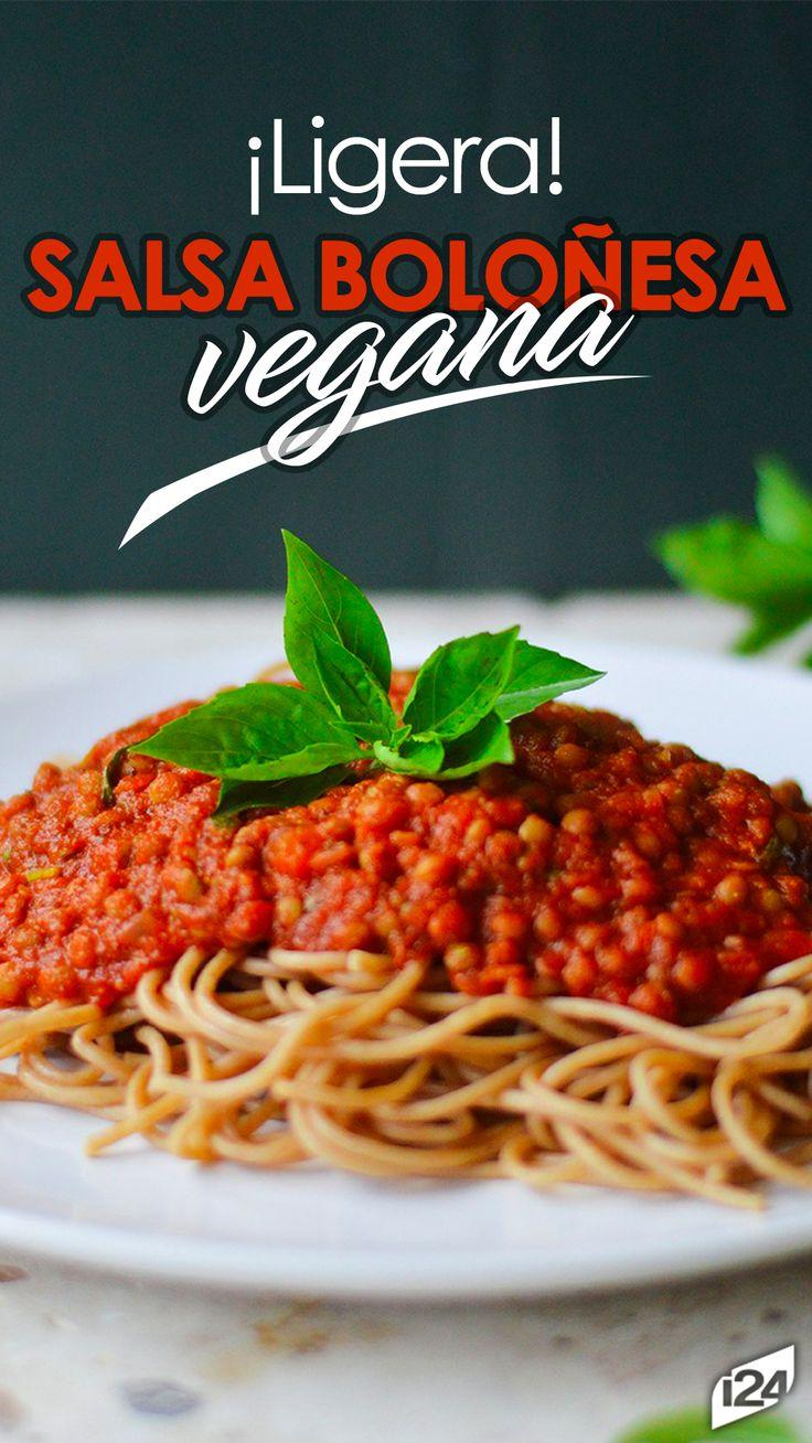 Divina pasta vegana que no puedes dejar de probar #Pasta #boloñesa #Vegana #Vegan #Bolognese