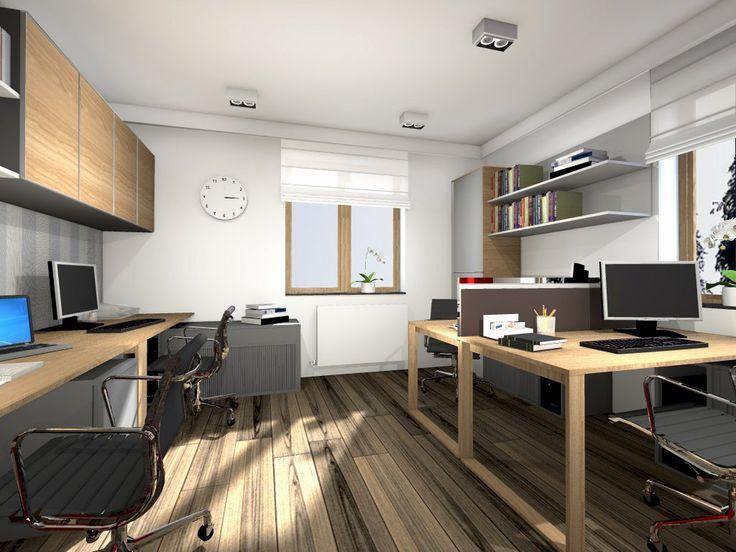 Biuro w drewnie – projekt i aranżacja #biuro #projekt #projektant #architekt #łódź