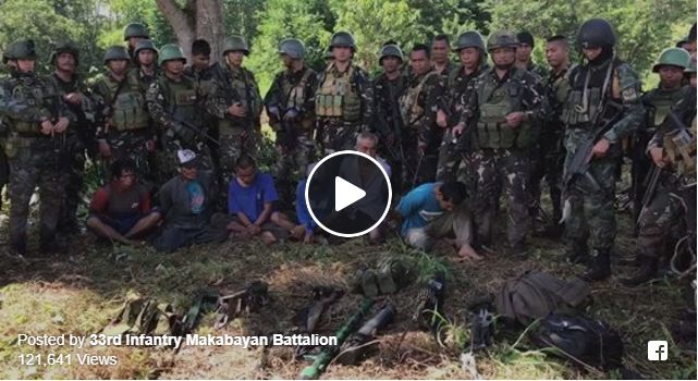 PHILIPPINE ARMY AT PNP SEIZED 6 HIGHPOWERED WEAPONS CAS MONEY AND ARRESTED BIFF TERRORISTS IN A 1 HOUR CLASH AT MANGADEG VILLAGE