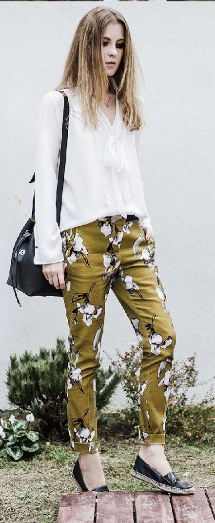 70's Floral Print Pants Outfit Idea by Neon Rock