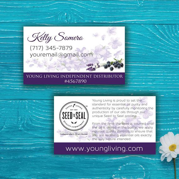 Seed to seal Card Young Living Business Card Custom Young