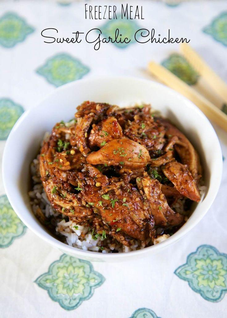 Freezer Meal Sweet Garlic Chicken by Plain Chicken