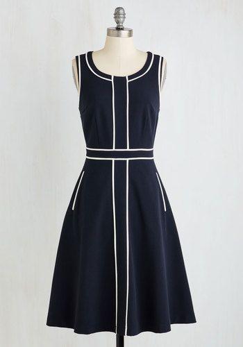 1960s piped detail dress, Roving Reporter Dress $89.99 AT vintagedancer.com