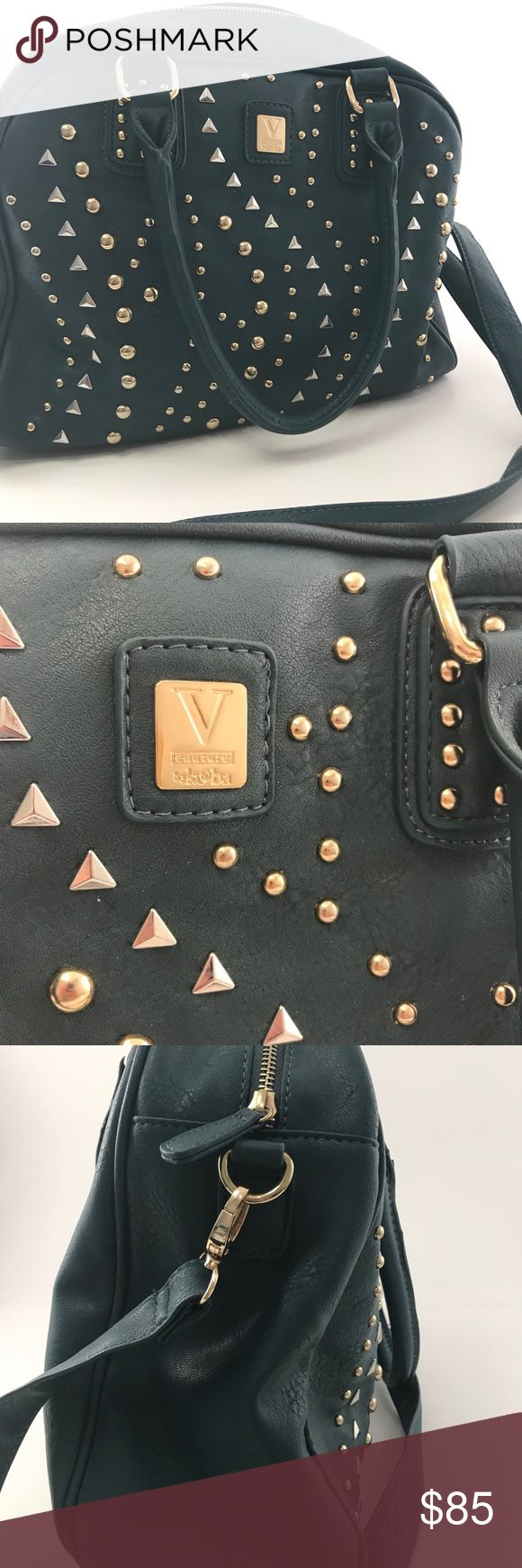 V couture by Kooba teal studded cross body satchel Preowned but never used V couture by Kooba teal cross body satchel. Studded design. See pictures. Great fall purse! V couture Bags Satchels #Satchels