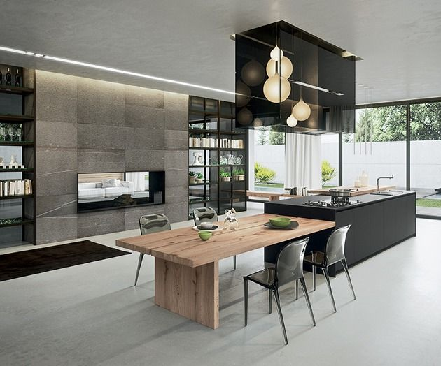 Die 25+ besten Ideen zu Kücheninsel tisch auf Pinterest | Insel ... | {Küchen mit integriertem esstisch 36}