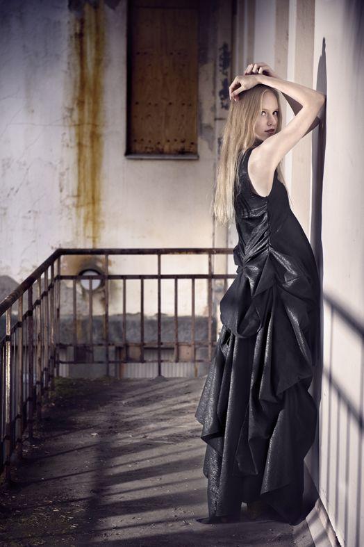 Dead Birds & Lionheart, Sculpted Evening Gown, http://www.deadbirdslionheart.fi/ #deadbirdslionheart #dress #gown #black