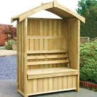 Zest Wooden Worcester Arbour with storage box