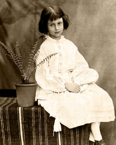 Alice Liddell in 1860, the girl that inspired Alice in Wonderland.