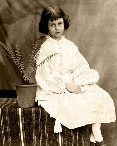 The real Alice in Wonderland (Alice Liddell), age 7 in 1860.