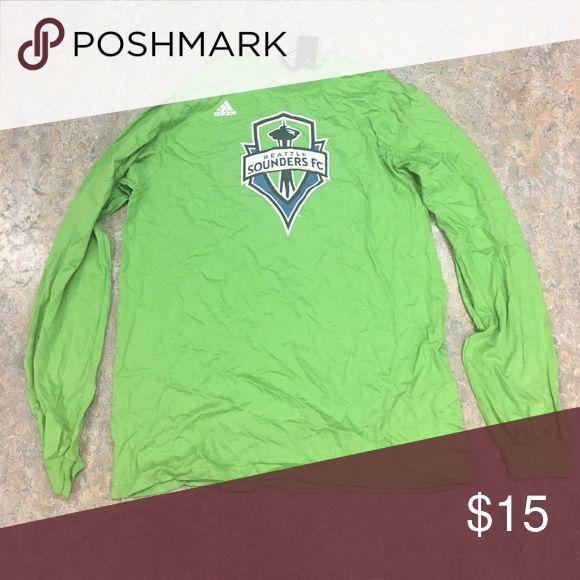 Seattle Sounders FC Adidas Long Sleeve Shirt XL Brand new with tags officially licensed Seattle Sounders FC men's Adidas Long Sleeve shirt size XL adidas Shirts Tees - Long Sleeve