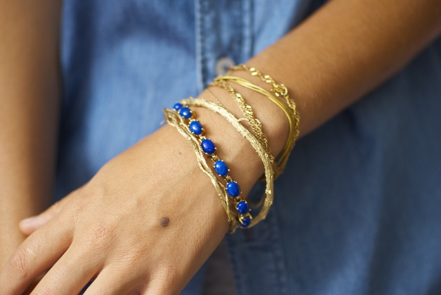 DIY GOLD TWIG BANGLES