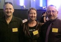 This is a photo of Michael Shelford, Emilie Collyer & Lou Bortolini taken 21/11/2014. Lou has blogged about the personal benefits of patronage via Writers Victoria. Love the sound of the mentorship & professional development.
