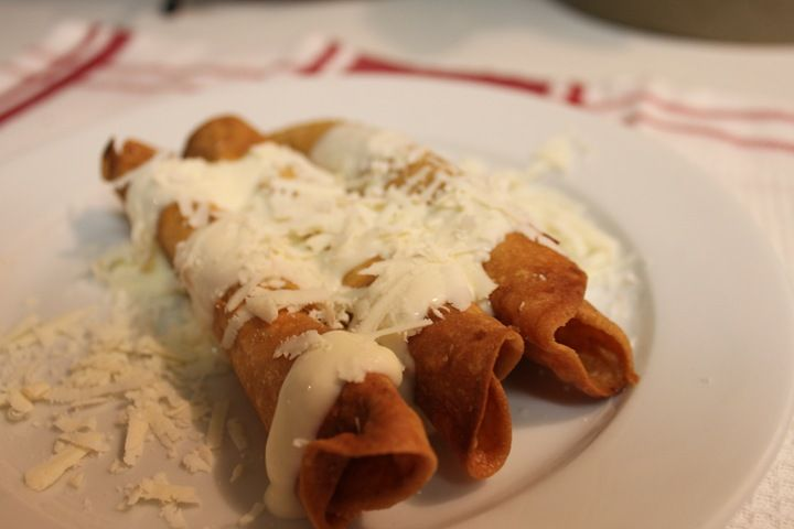 Mexican Beef Crispy Flautas from mexicoinmykitchen.com