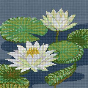 White  Lotus cross stitch kits