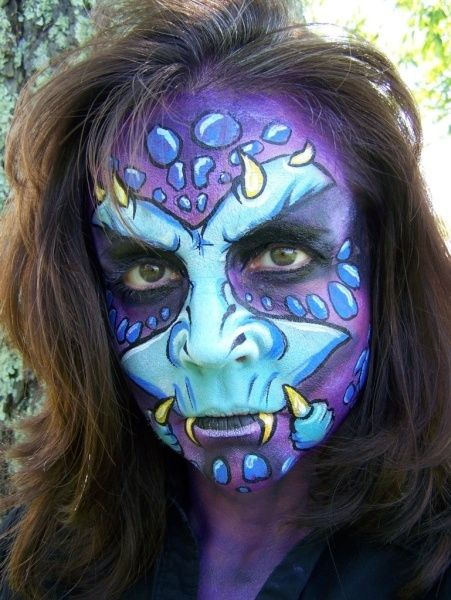 awesome monster face paint for wanda - Halloween Face Painting For Girls