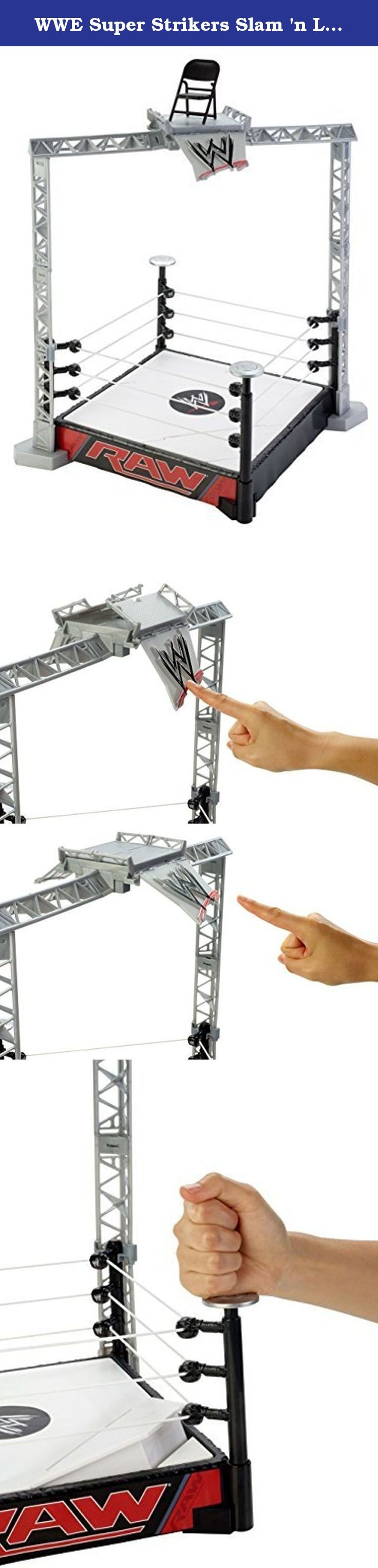 WWE Super Strikers Slam 'n Launch Arena Playset. It's shipped off from Japan.