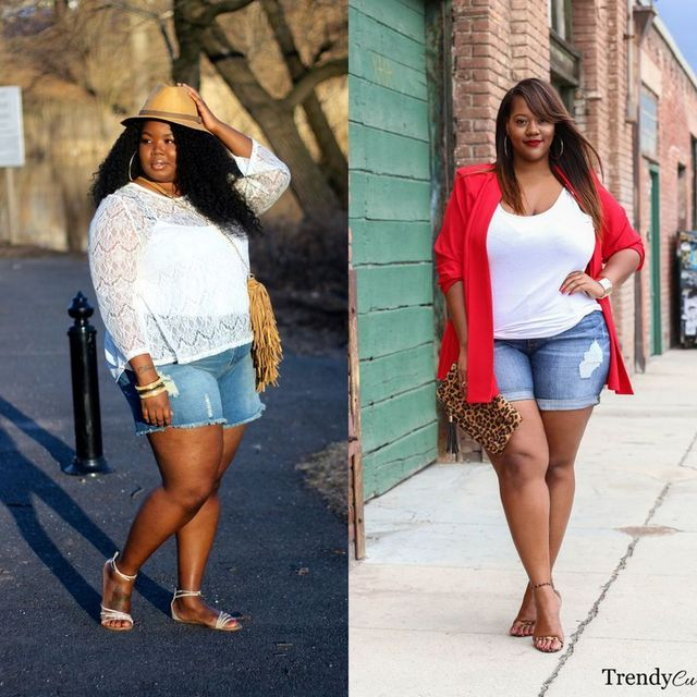 706f72e120d 30 Plus Size Shorts Outfit Ideas For Beautiful Curvy Women