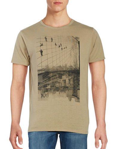 Bells & Whistles Slub Bridge Print Short Sleeve Tee Men's Natural Smal