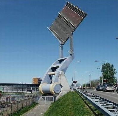 flying bridge, Slauerhoffbrug in Leeuwarden