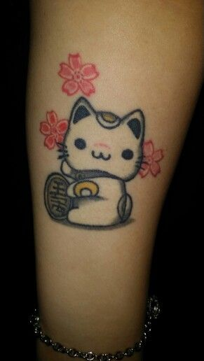 My Maneki Neko Tattoo