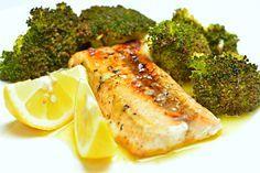 Honig-glasierter+Lachs+mit+geröstetem+Brokkoli