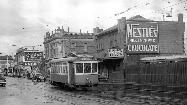 Footscray's local trams ran from 1921 to 1962 before they gave way to the motor vehicle.