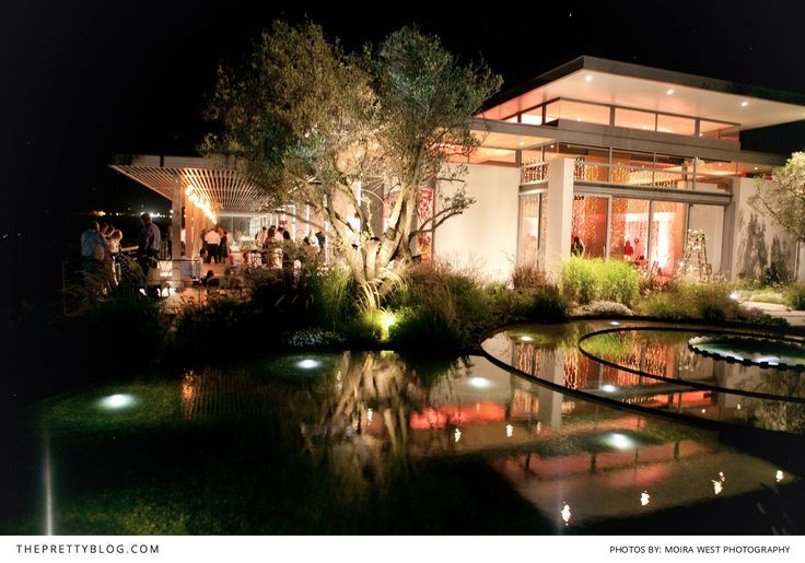Cavalli Estate lit up at night. The perfect setting for wedding celebrations that stretch into the night