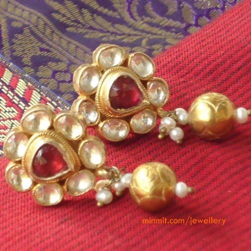 uncut-ruby-earrings