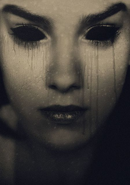 There was an emptiness in here eyes as if her soul had vacated her body.